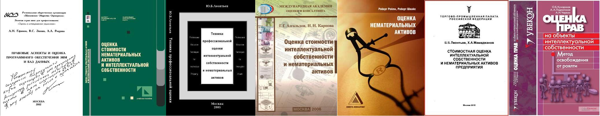 публикации по оценке интеллектуальной собственности
